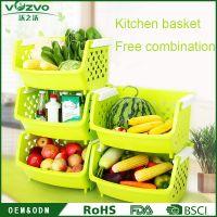 plastic kitchen storage houseware storage basket
