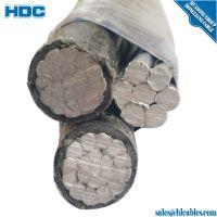3 core aluminum abc aerial bundle cable Triplex service drop cable