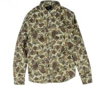 2018 Men comfortable soft cotton camouflage print  fashion shirts casual/dress shirts