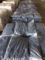 Black tumbled stone for garden decor and home decor