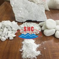 White calcium carbonate chip and lump with high purity