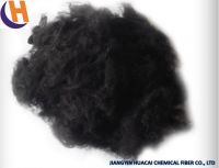 2.5D*51MM Black polyester staple fiber