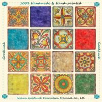 Best Selling Handmade Wavy Edge Flower Ceramic Mexican Floor Tile