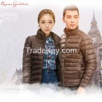 Men and women down jacket down jacket short section Slim collar Korean