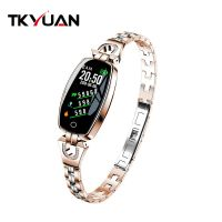 H8 Smart Watch Women Ladies Waterproof Heart Rate Monitoring Bluetooth For Android IOS Fitness Bracelet Smartwatch