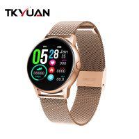 DT88 Smart Watch Round Touch Screen Intelligent Fitness Tracker Watch Heart Rate Monitor Sports Smartwatch Men Women