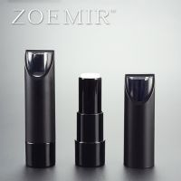 NEW Custom cosmetics tube round shape clear cap tip black lip stick tube with special design