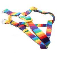 Dog walking harness: Hot sale best dog harness with rainbow logo supply