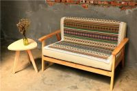 British style fashion knitting lemon grid fitted sofa cover