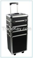JH519 4 in 1 Portable Cosmetics  Hairdressing Makeup Trolley Carry box