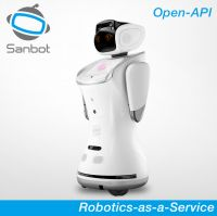 Sanbot Elf multi-service mobile app control remote telepresence robot for lecture, education, hospitality, commercial and remote monitor
