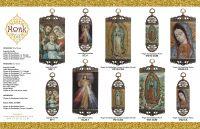 Catholic Icon pendant embroidery