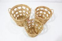 New product water hyacinth storage basket-SD10406A-3NA