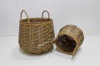 New product poly rattan storage basket-CH3776A-2MC