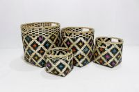 New product bamboo storage basket-BH5244A-4MC