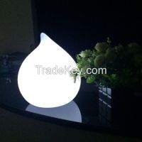 Big Peach Shape LED Cordless Table Lamp With USB Port