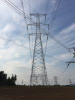 Custom steel transmission poles and substations