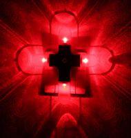 LED Cross Night Light (Round Shape) with Auto Sensor