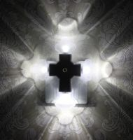 LED Cross Night Light (Flower Shape) with Auto Sensor