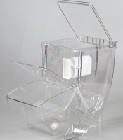 Acrylic Display Candy Dispenser Box/bin/container for Supermarket