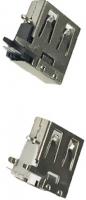 Type A Female 2.0 USB Connector on sidewalls AF 90�°