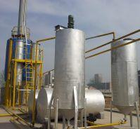 Used engine oil, tyre oil, plastic oil to diesel distillation plant
