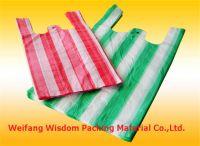 Plastic stripe T-shirt bags