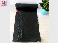Plastic drawstring trash bags