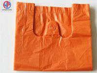Plastic T-shirt bags with colorful