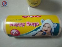 Plastic nappy bags with perfume