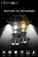 shenzhen auto accessories,automobile led h1,h7,h8,h11,9005,9006,9012,h4 dual color headlights