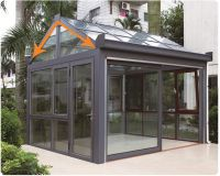 aluminium double tempered galss sunroom with gable roof