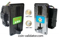 Euro coin validator Acceptor slot selector