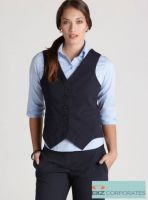 Corporate Uniforms Online- Comfort Wool Ladies Peaked Vest with Knitted Back