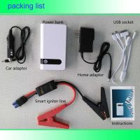 professinal supply 12000ma  jump starter power bank