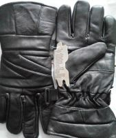 Leather Winter Warm Gloves