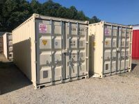 shipping and storage containers on auction
