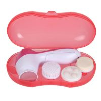 Electric 360 rotation facial massager 4 in 1 4 heads brush