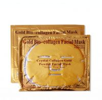 24K Gold Collagen Crystal Facial Mask Firming Face Gel Mask Moisturizing,Anti-wrinkle face mask