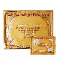 24K Gold Collagen Crystal Facial Mask Firming Face Gel Mask Moisturizing,Anti-wrinkle face mask