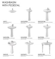 Washbasin with pedestal