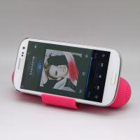 Pill shape portable mini sense induction vibration speaker with dock station