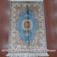 Small Blue 2x3 Silk Rugs and Carpets