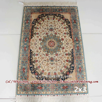 2x3 Silk Carpets Handmade Hand Knotted