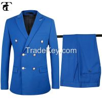 Slim Fit Double Breasted Coat Pant Men Suit