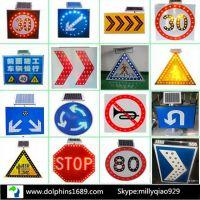 Solar square traffic sign