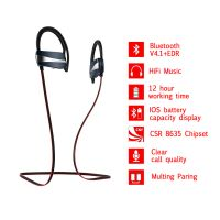 Sport Waterproof Bluetooth Stereo Earphone Wireless Headphone With Mic