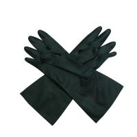 """13"""" 21mil Black Food Grade Flocklined Neoprene Industrial Glove"""