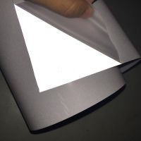 High visibility silver reflective heat transfer vinyl for sports clothing