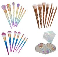Professional 7PCS Color Mermaid Diamond makeup brushes Eyebrow Eyeliner Blush Blending Contour Foundation Cosmetic Makeup Brush Set DHl Ship
